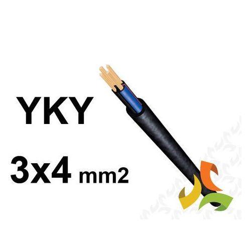 Kabel yky 3x4mm2 0,6/1kv przewód ziemny miedziany marki Elpar/tfk/bitner/damir/zeit