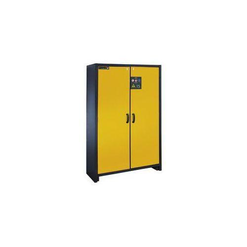 Asecos Szafa na substancje niebezpieczne, odporna na działanie ognia,typ 15, 2-drzwiowa