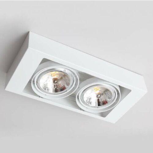 Spot LAMPA sufitowa KOGA 7121 Shilo natynkowa OPRAWA metalowa prostokątna biała, kolor Biały