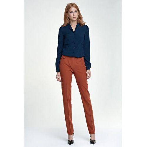 Eleganckie spodnie SD25 rudy