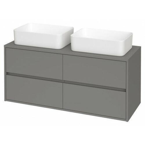 CERSANIT szafka Crea 120 szary mat pod 2 umywalki nablatowe S931-006 (5902115781179)