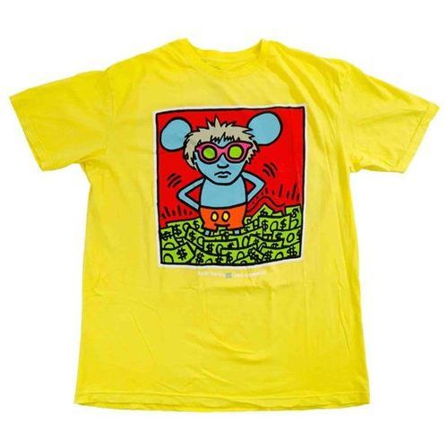 Alien workshop Koszulka - haring andy mouse yellow (zluta) rozmiar: xl