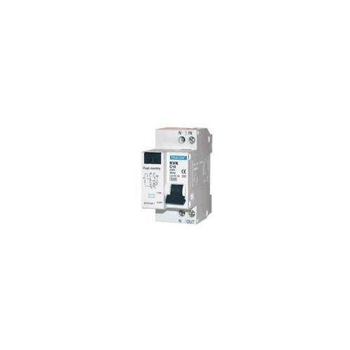 Kvkb-25/10 wyłącznik różnicowy z członem nadmiarowo prądowym 2p, b25a, 100ma, 3ka, ac marki Tracon electric