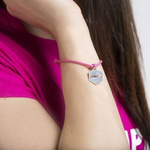 Jumpit  - bransoletka z zawieszką + woreczek - różowy
