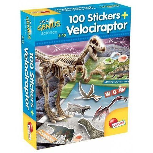 I'm genius 100 naklejek velociraptor marki Liscianigiochi
