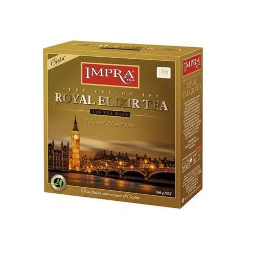 Impra tea 100x2g royal elixir gold pure ceylon tea herbata ekspresowa premium marki Imperial tea