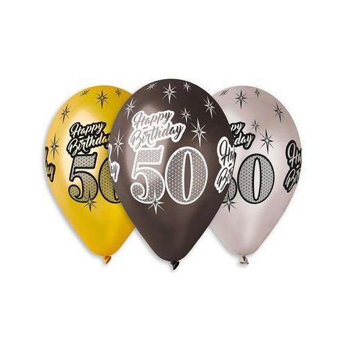 Gemar Balony lateksowe z nadrukiem 50 - mix - 30 cm - 6 szt.