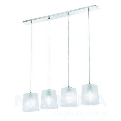 Viokef Torre lampa wisząca 4 białe szkło chrom