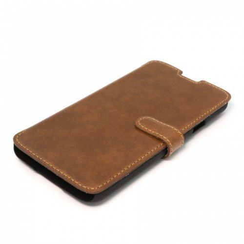 LEATHER SAMSUNG GALAXY S5 BROWN BOOK CASE
