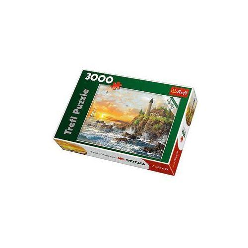 Puzzle 33044 zachód nad skalistym wybrzeżem (3000 elementów) marki Trefl