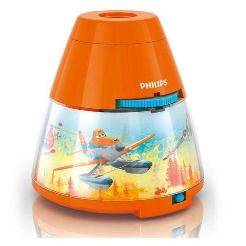 Disney - lampka nocna projektor led pomarańczowy planes wys.11,8cm od producenta Philips