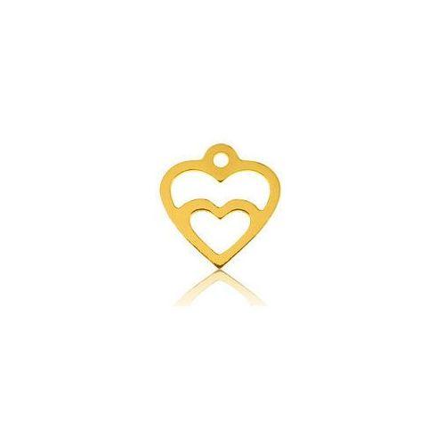 925.pl Zawieszka podwójne serca, złoto próby 585