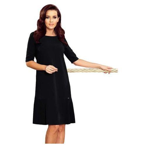 74c4c161dd Numoco Czarna elegancka trapezowa sukien.