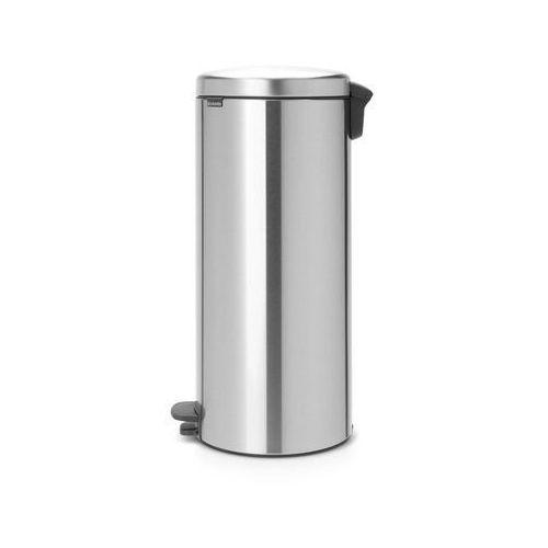 Kosz na śmieci pedałowy NewIcon 30l z metalowym wiaderkiem stal mat., 114786