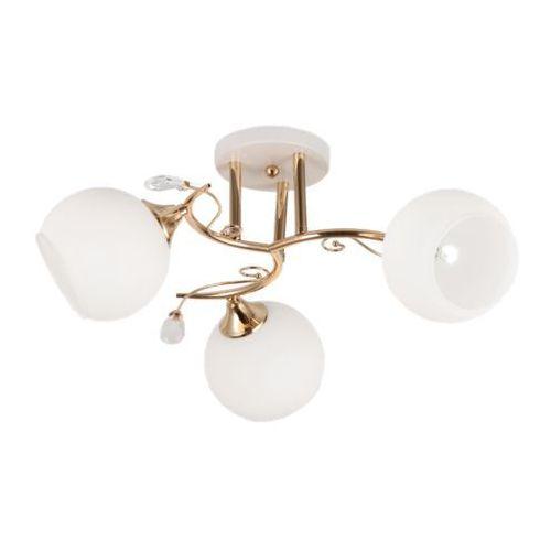Plafon LAMPA sufitowa 638/3 MLAMP klasyczna OPRAWA szklane kule balls białe, 638/3