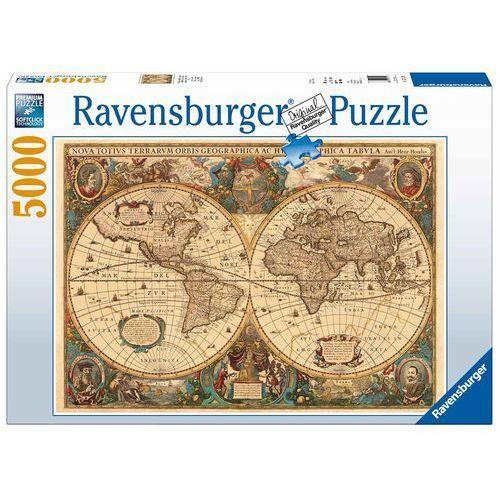 Puzzle RAVENSBURGER Antyczna mapa świata 174119 + DARMOWY TRANSPORT!, RDVR 17411