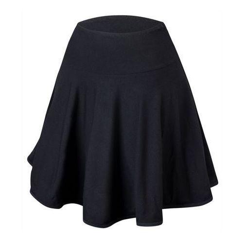Rozkloszowana spódnica treningowa z koła wiskoza czarna - czarny marki Rennwear