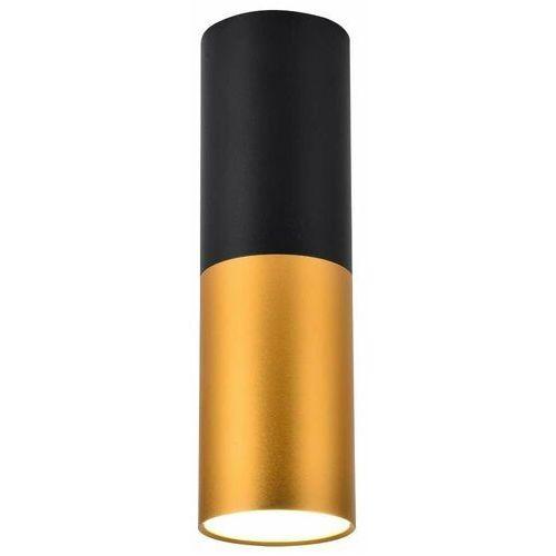 LAMPA sufitowa CAN2282688 MLAMP loftowa OPRAWA metalowy plafon tuba czarna złota