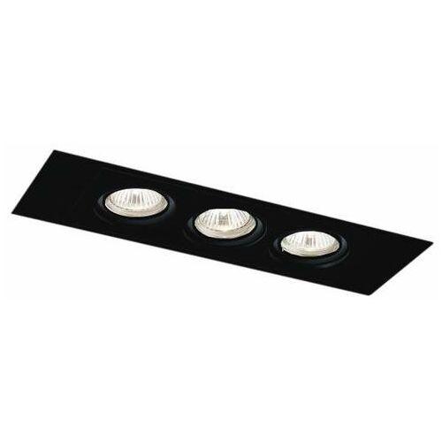 Shilo Oczko lampa sufitowa ebino h 3348 podtynkowa oprawa regulowana wpust prostokątny czarny (1000000340518)