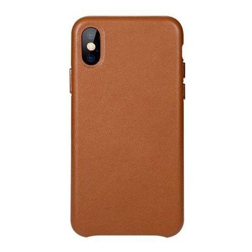 Benks Etui eleleat leather case iphone x brown (6948005943929)
