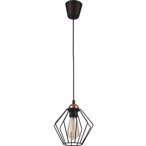 Lampa wisząca druciana zwis oprawa tk lighting galaxy 1x60w e27 czarna/ miedź 1642 marki Tklighting