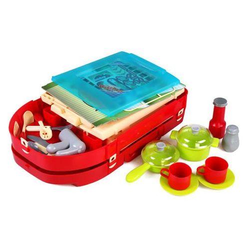 Kindersafe Duża kuchnia składana walizka + akcesoria 18 el. mały kucharz 008-58a (5902921968764)