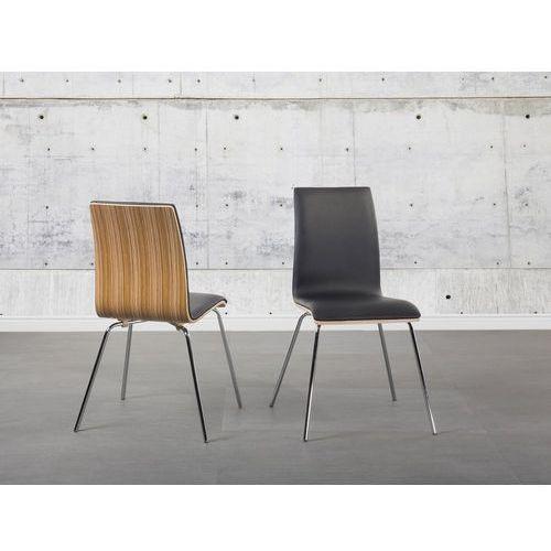 Krzesło brązowe - skóra ekologiczna - HARLEM