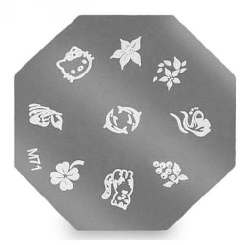 Neonail metal plate for nail art płytka metalowa do zdobień - 10