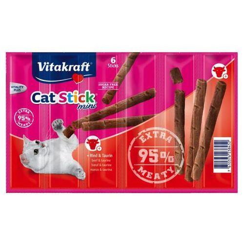 cat stick mini kabanosy dla kota z wołowiną i tauryną 3 szt. marki Vitakraft
