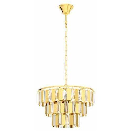 Eglo Erseka 99098 lampa wisząca zwis 5x40W E14 mosiądz/transparentna (9002759990985)