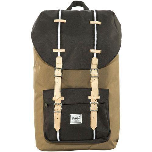 Herschel little america plecak beżowy/czarny 2018 plecaki szkolne i turystyczne (0828432189052)