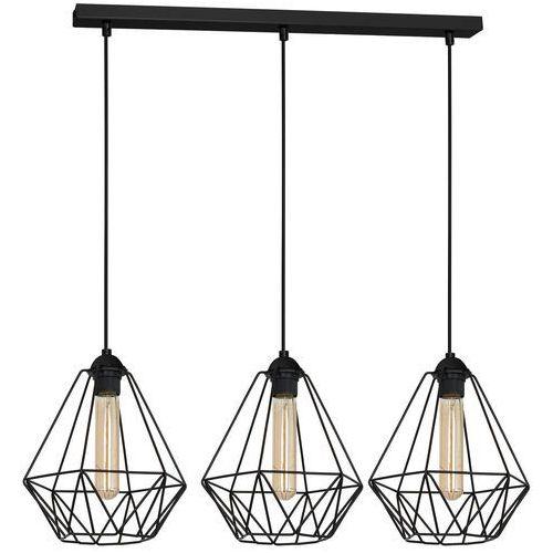 Luminex Lampa wisząca basket new 8063 lampa druciana diament 3x60w e27 czarna (5907565980639)