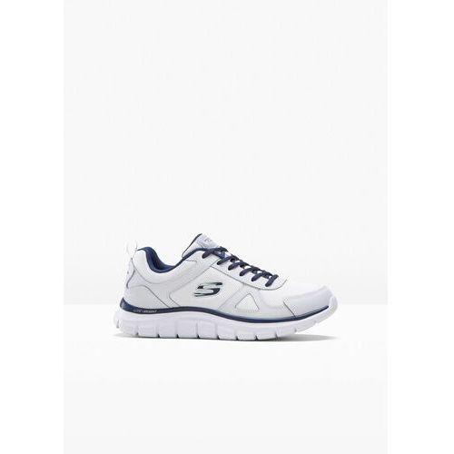 Sneakersy Skechers z pianką Memory bonprix biało-ciemnoniebieski, 1 rozmiar