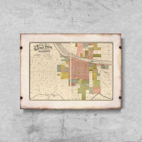Vintageposteria.pl Plakat w stylu retro plakat w stylu retro stara mapa nowego jorku i manhattanu