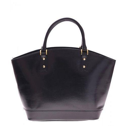 Bestseller Torebka skórzana typu Shopperbag Łódka Czarna (kolory), 11Acza