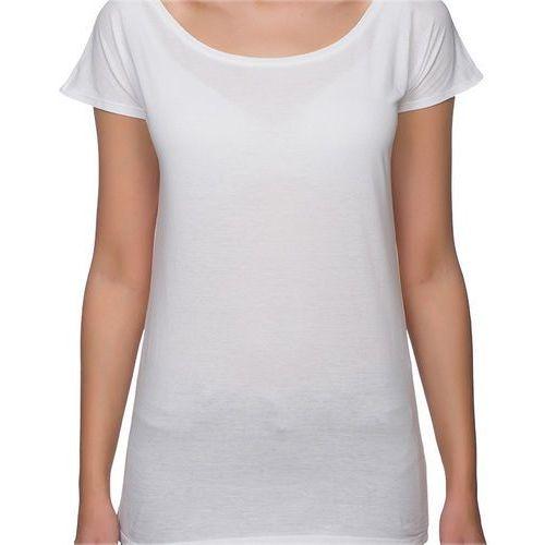 Koszulka Damska koszulka oversize (bez nadruku, gładka) - biała, w 2 rozmiarach