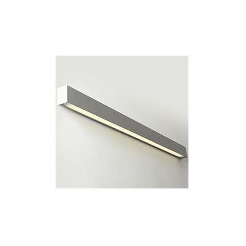 Lampa ścienna line wall led l - srebrny marki Customform