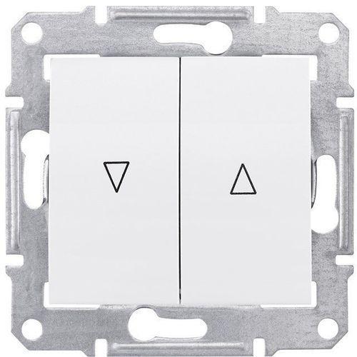 Sedna łącznik żaluzjowy Schneider podtynkowy podwójny z blokadą mechaniczną bez ramki biały SDN1300321 (8690495049930)