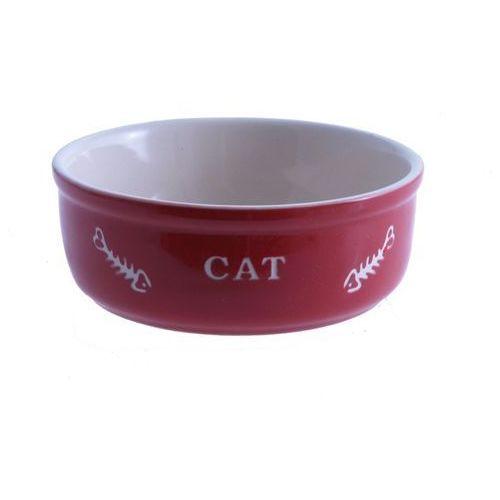Nobby Miska ceramiczna dla kota czerwona z ością (4033766687617)