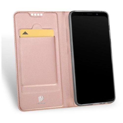 Etui Skin Pro DuxDucis do Samsung Galaxy A8 2018 różowo-złote (6934913091616)