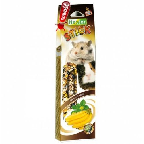 NESTOR Kolba dla gryzoni i królików SMAKI ŚWIATA z bananami i lucerną, 2szt.