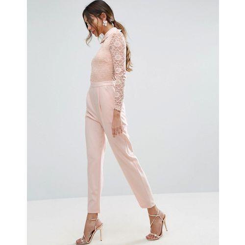 ASOS Lace Collar Jumpsuit - Pink