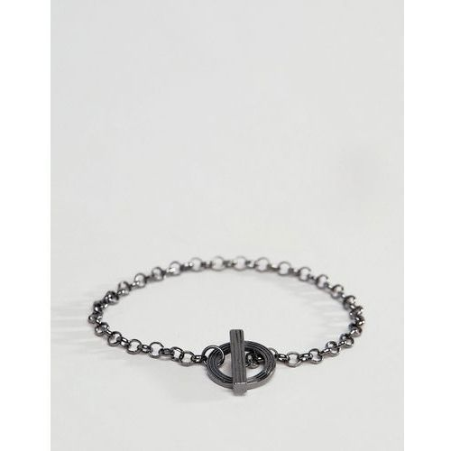 gunmetal chain bracelet - silver marki Icon brand
