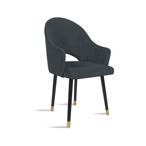 Krzesło bari ciemny szary/ noga czarny gold/ tr15 marki B&d