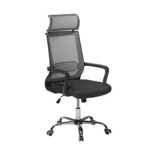 Beliani Krzesło biurowe szare regulowana wysokość leader (4260586355260)