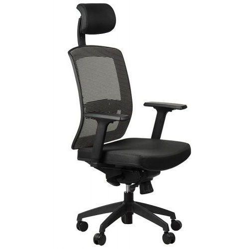Fotel obrotowy biurowy gn-301/szary z wysuwem siedziska krzesło biurowe obrotowe marki Stema - gn