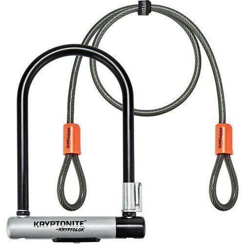 kryptolok mini-7 zapięcie rowerowe + kryptoflex pomarańczowy/czarny 2018 u-locki marki Kryptonite