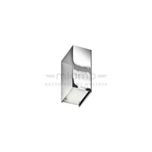 Kinkiet LAMPA ścienna RAUL GM1107 CH Azzardo metalowa OPRAWA prostokątna chrom