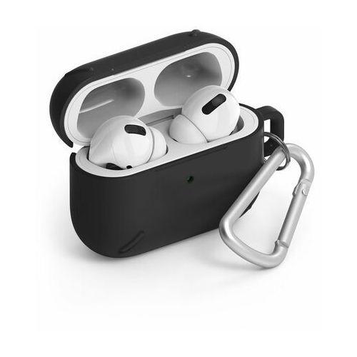 airpods case wytrzymałe etui case na słuchawki airpods pro + karabińczyk czarny (acec0013) - czarny marki Ringke