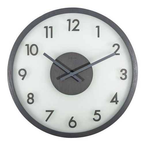 Zegar ścienny frosted wood szary marki Nextime